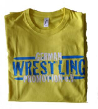GWP T-Shirt German Wrestling Promotion gelb